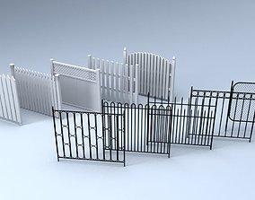 3D model game-ready Fences