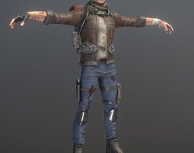 3D model Rigged Male Survivor