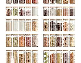 Minimalist Food Jars 3D
