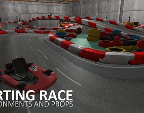 3D model Karting race - environments and props