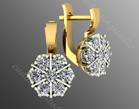 3D printable model earrings od 5