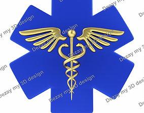 medicine 3D Caduceus medical symbol