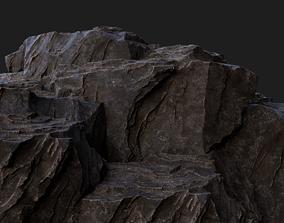3D model Rock Cliff Assembly Asset for Concept Art