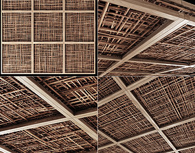 Ceiling wood cage thin branch n4 3D model