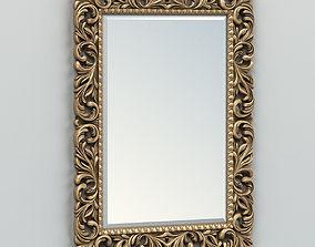 Rectangle mirror frame 001 3D model