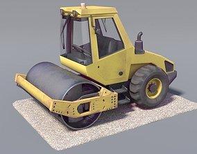 3D asset low-poly Steamroller old version