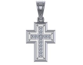 catholicism 3D printable model diamond cross