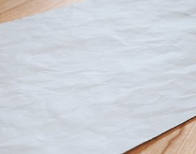 3D Creased paper seamless displacement texture