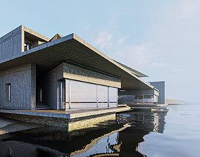 Build H 002 Japan Lake House 3D model