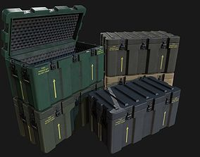 3D model Low Poly PBR Military Crate 1