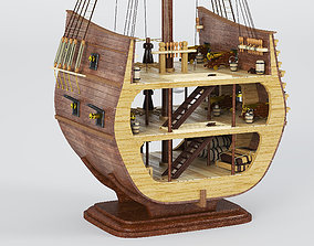 San Giovanni Battista ship 3d model cut