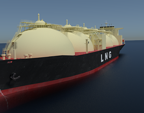 sea LNG Ship 3D