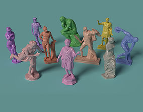 Polygonal Classic Statues 10 printable models