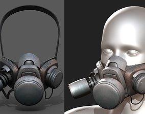 Gas mask respirator scifi futuristic military 3D model
