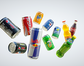 3D asset Cans and Bottles Pack