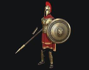 Modular Spartan Full Body Character Dress and 3D asset