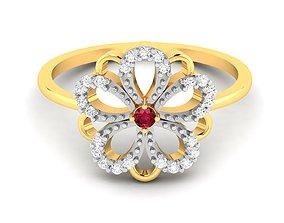 Women Flower Band Ring 3dm render detail wedding