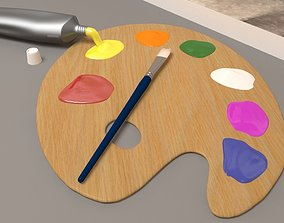 Paint PaintBrush Palette 3D