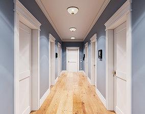 3D model Hallway 003 UE4