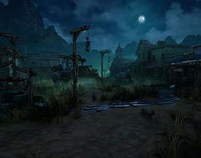 Wild West Ghost Town of Fogmourn UE4 3D asset