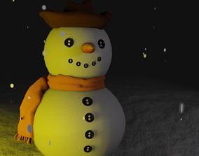 Snowman 3d printed model good Christmas present