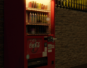 Low Poly Vending Machine 3D model game-ready