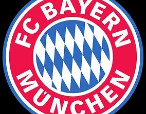 bayern munchen logo 3d model decoration