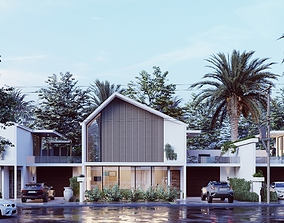 3D The Tropical Townhouse Lumion 9 Scene