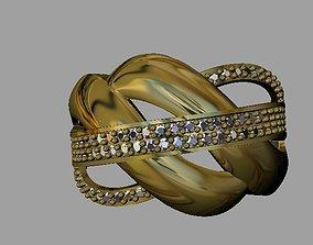 3D printable model Fashion Women Ring brilliant