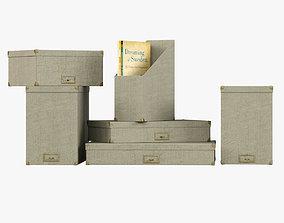 3D asset Restoration Hardware Linen Office Storage 2
