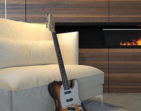 3D model Fender Telecaster Used Corona