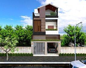 House design 3d model duplex animated