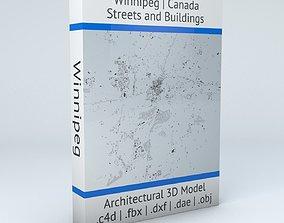 Winnipeg Streets and Buildings 3D model