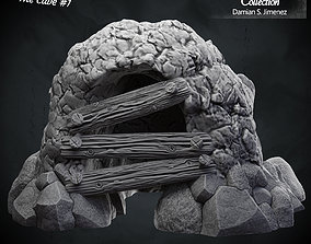 Cave 1 - 3D terrain for tabletop games Pre supported 3D