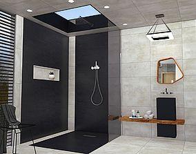 low-poly modern bathroom 3dmodel