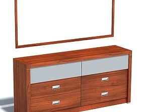 3D Wooden Two Tone Dresser