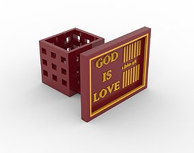 God Is Love Desk Photoframe with Pen 3D printable model