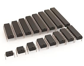 3D model Microchip vol 01