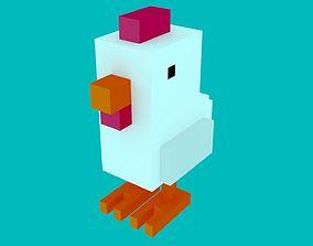 3D Hen from Crossy Road
