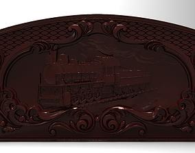 3D printable model Steam locomotive Bas relief for