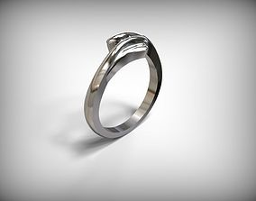Jewelry Silver Ring Lines Design 3D print model