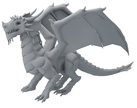 3D asset animated realtime Dragon animals