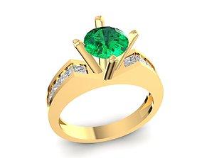3D print model diamond ring for women 1642