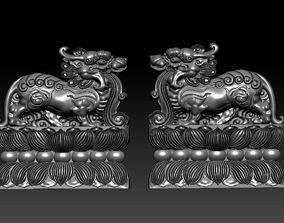 3D printable model Guardian lions