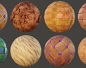 3D Stylized Ancient Tomb materials