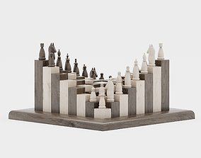 3D model new wooden chess parametric