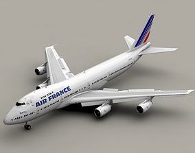 Boeing 747-200 Air France 3D
