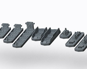 3D printable model Ships and Crate - Panamax
