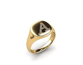 Jewelry Signature Ring 3D print model