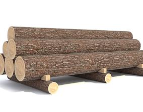 3D model Round log